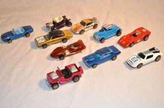 Lot of 10 Original Vintage Hot Wheels Redline Cars