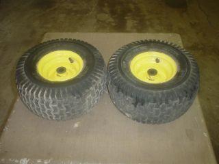 Deere L100,L108,L111,L118 Lawn Tractor Front Wheels & Tires 15X6.00 6
