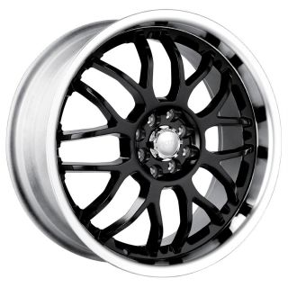 18 inch Akita AK6 Black Wheels Rims 5x115 Charger AWD Magnum AWD