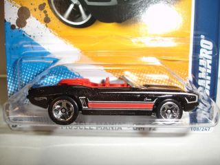 2012 Hot Wheels 1969 Chevy Camaro Convertible Muscle Mania GM 108 Case