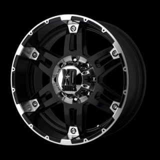 17 inch Black Wheels Rims 8 Lug Truck Chevy Dodge 2500