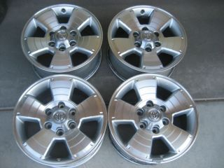 TACOMA 4RUNNER OEM 17 ALLOY WHEELS RIMS CENTER CAPS TUNDRA FJ CRUISER