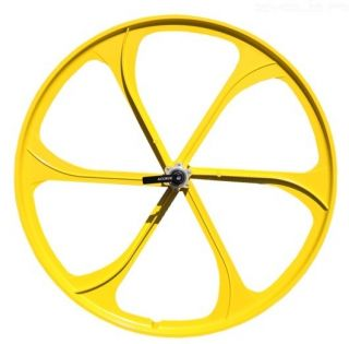 Bike Mountain Bike Front Wheels Disc Brake Only w Q R Yellow