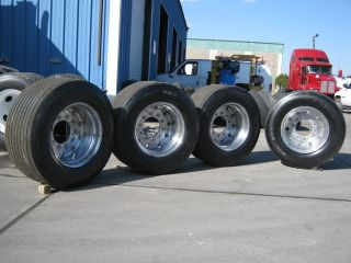 Alcoa Super Single Wide Base 22 5 Tires and Wheels