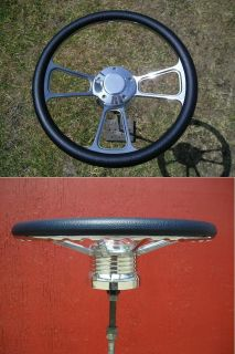 Billet Steering Wheel 4 Chevy Truck Camaro 57 68 Blue