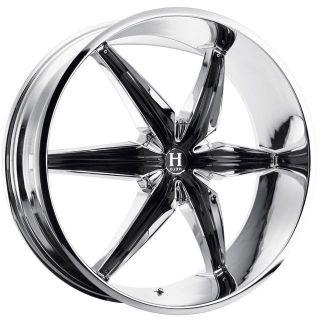 22 inch Helo HE866 Chrome Wheels Rims 5x5 5x127 35