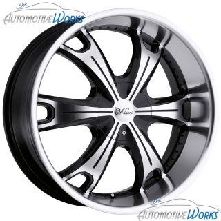 Stellar 5x127 5x5 5x135 16mm Black Machined Wheels Rims Inch 18