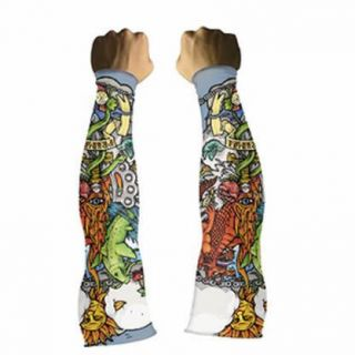 Primal Wear Tattoo Arm Warmers Road MTB BMX Bicycle Cycling New Small
