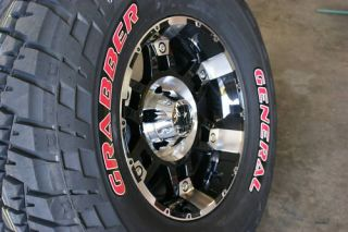 35 x 12 50 17 General Grabber Red L Tires XD Spy Rims
