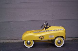 Vintage N Y Taxi Cab Pedal Car Very Good Used Condition