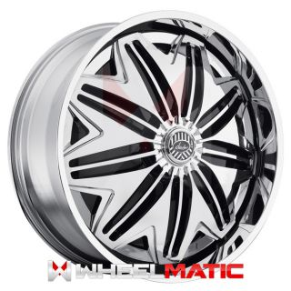 New Davin Spinners PWRFL 28x10 5x120 127 10 Wheels Rims Chrome