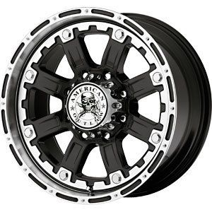 New 20x9 6x135 American Outlaw Black Wheels Rims