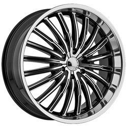 22 inch Panther 915 Black Wheels Rims 5x120 35 BMW x3 Lexus LS 460