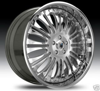 AF137 AF 137 Chrome Multi 2 Piece Rims Wheels Tires Package