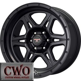17 Black Strike 6 Wheels Rims 6x139 7 6 Lug Titan Tundra GMC Chevy