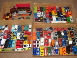 Huge Lot Hot Wheels Matchbox 152 Toy Cars Trucks Loose Mixed