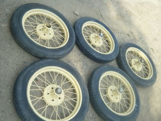 Model T 21 Wire Wheels and Tires