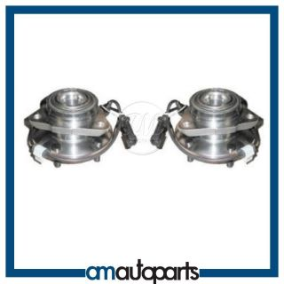 Chevy GMC Blazer S10 Truck 2WD 2x4 w ABS Front Wheel Hub Bearing Pair