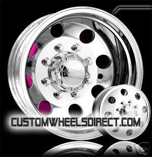 Ultra Wheels 02 Dually 8x6 5 17x6 5 Polished Chevy GMC Dodge Free