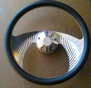 14 Half Wrap Aluminum Winged Steering Wheel w Billet Adapter
