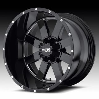 18 inch 18x9 Moto Metal Black Wheels Rims 6x135 F150 Expedition