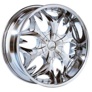 22 inch B3 Chrome Wheels Rims 6x5 6x127 GMC Envoy