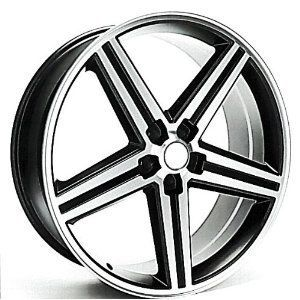 IROC Wheels Black Machined 20 5x127 Set of 4 20x9 New Chevy Caprice