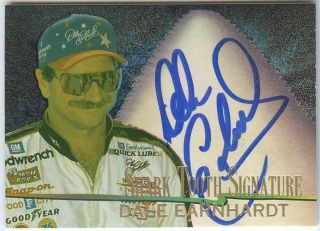 Dale Earnhardt 1997 Wheels Shark Tooth Signature Auto Autograph 300