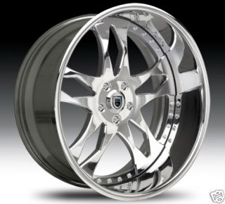 24 asanti 24 inch AF129 AF 129 Chrome Multi 2 Piece Rims Wheels Tires