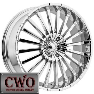 22 Chrome Panther Spline Wheels Rims 5x139 7 5 Lug Dodge Ram Durango