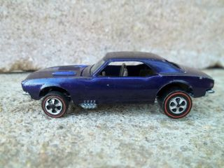 Hot Wheels Redline Custom Camaro Deep Purple 1968