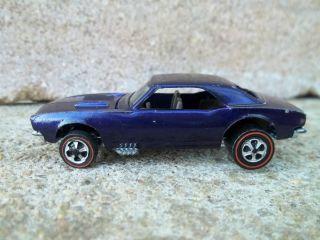 Hot Wheels Redline Custom Camaro Deep Purple 1968