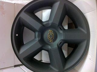 Matte Black Chevrolet Tahoe Avalanche Suburban Factory LTZ Wheels Rims