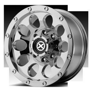 Slot Chrome Offroad Chevy Dodge Ford Truck Rims Wheels Set
