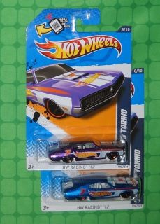 2012 Hot Wheels HW Racing 178 70 Ford Torino 2 Variations