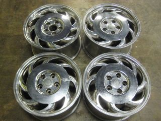 Corvette C4 17 Chrome Rims Wheels Staggered Set of Four