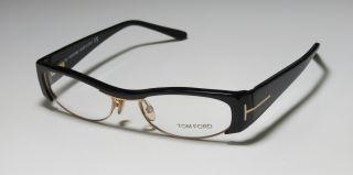 TF 5076 51 16 135 Gold Black Half Rim Eyeglasses Glasses Frame