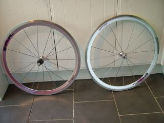 of Campagnolo Shamal 700c Clincher Wheels with C Record Hubs