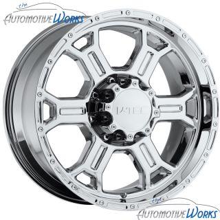 17x9 V Tec Raptor 8x170 18mm Chrome Wheels Rims inch 17