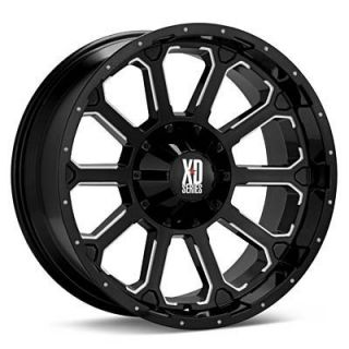 20 inch 20x9 KMC XD Black Wheels Rims 8x170 Ford F 250 F 350 Excursion