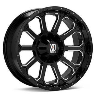 20 inch 20x9 KMC XD Black Wheels Rims 8x170 Ford F 250 F 350 Excursion