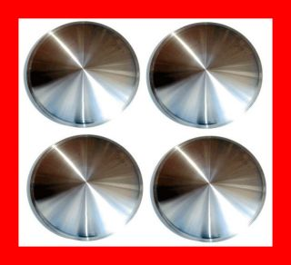 15 Stainless Steel Racing Disk Full Moon Hubcaps New