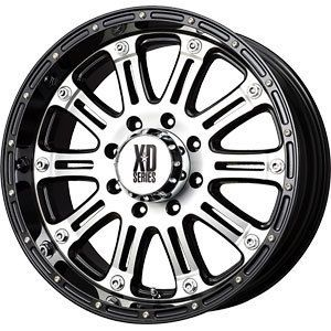New 18x9 6x139 7 XD Hoss Black Wheels Rims