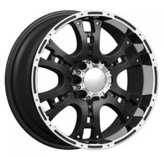 inch Phantom PW158 Rugget One Dub Black Rims Chevy Wheels Set