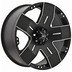 15 inch Ballistic Hyjak Black Wheels 5x5 5 Ford F150