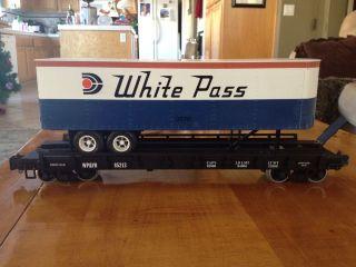 1762 White Pass Piggyback Flat Car 3670 VHTF RARE Metal Wheels