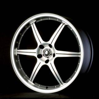 20 Wheels AT296 Miro Alt Machine Black Tires Lancer Gallant Tiburon