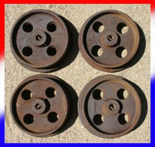 SET OF 4 VINTAGE Ore Car WHEELS train locomotive railroad mine mining
