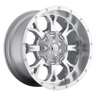 18x9 MHT Fuel Krank 8x180 Et 12 Silver Milled Wheels 4 New Rims