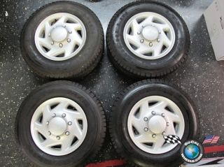 Ford E350 Van Factory 16 Steel Wheels Tires 225 75 16 E 3035